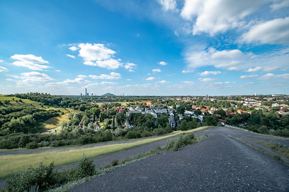 Pottleben - Blick von der Halde Rungenberg auf den Gelsenkirchener Norden