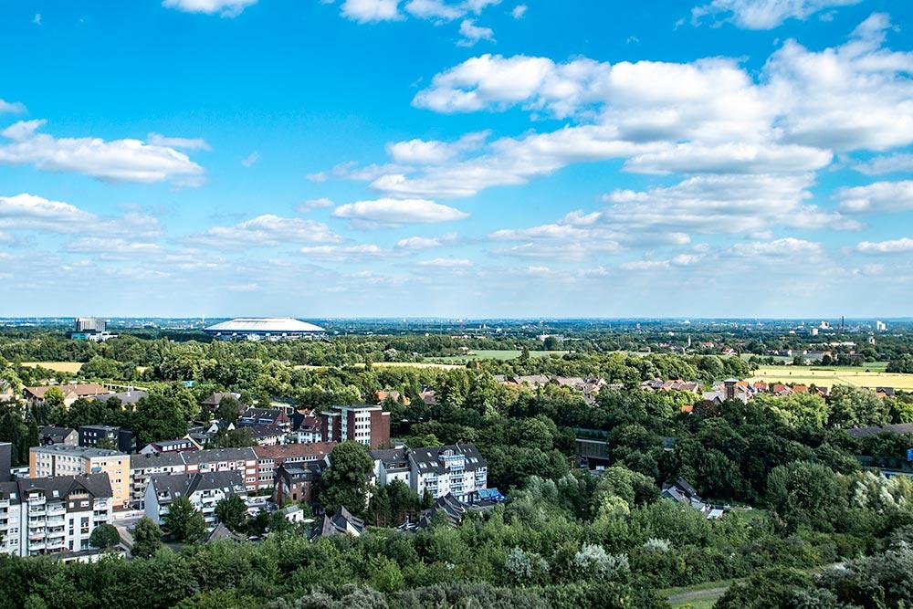 Pottleben - Blick von der Halde Rungenberg in Richtung Veltins-Arena