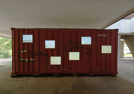 Videocontainer am Skulpturenmuseum Glaskasten in Marl.