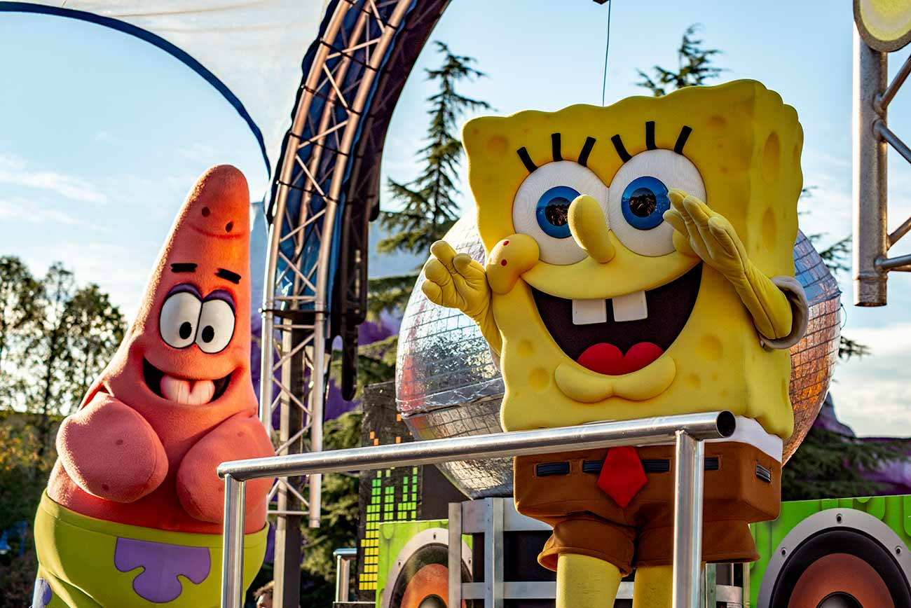 Pottleben - Helden im Movie Park: Sponge Bob und Patrick.