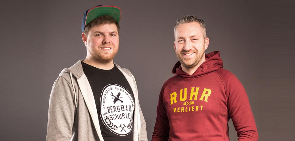"""Constantin und Michael sind die Macher des Streetwear-Labels """"Ruhrverliebt""""."""