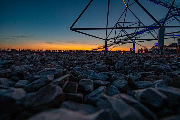 ExtraSchicht 2019: Sonnenuntergang am Tetraeder Bottrop