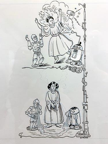 """Einzelseite aus """"Die Lache der Sith"""" von Matthias Kringe."""