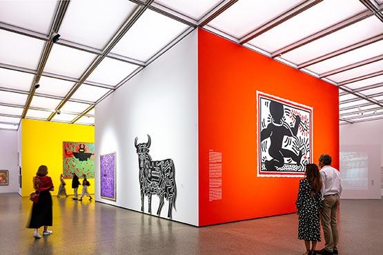 Museum Folkwang Ausstellungsansicht Keith Haring, 2020 Foto: Sebastian Drüen